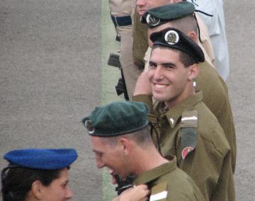 Alon finishing officer's course