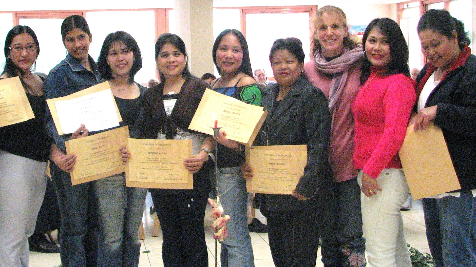 Graduation of first caregiver's class