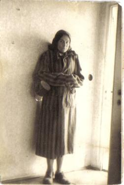 Photo of Cesia on day of liberation from concentration camp